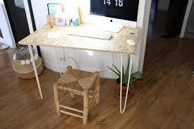 fabriquer bureau sur mesure un bureau osb handmade très simple à réaliser