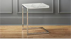Marble Side Table Smart Marble Top Side Table In Side Tables Reviews Cb2