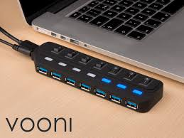 vooni 7 port usb 3 0 hub a switch for every port