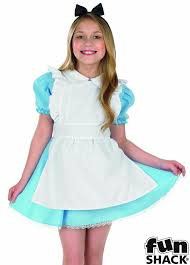 alice in wonderland girls fancy dress world book day large