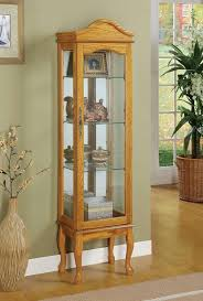 curio cabinet with light lighted curio cabinet pulaski curved glass used with light half