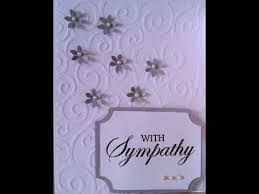 condolence cards simple sympathy handmade card