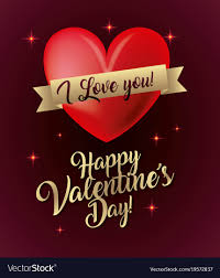 valentines lights happy valentines day card i you glow lights vector image
