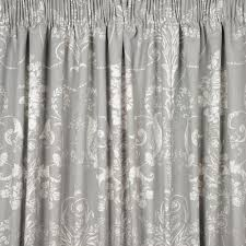 Steel Grey Curtains Josette Steel Pencil Pleat Ready Made Curtains