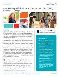 university of illinois at urbana champaign graduate college case study