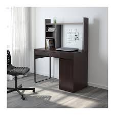 micke computer work station black brown ikea