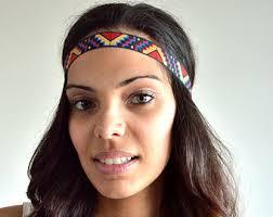 hippie bands crochet headbands for women headband boho hair band adjustable