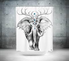 elephant soul shower curtain u2013 electro threads