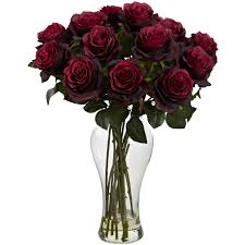burgundy roses water look roses burgundy roses arrangement w vase