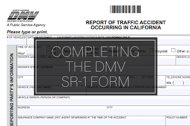 do i need to fill out a dmv sr 1 form after my car accident