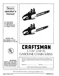 sears chainsaw 358 356090 3 7 20