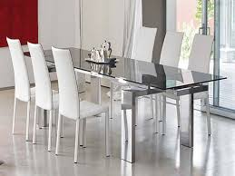 image of circular modern glass dining table room