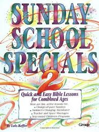 sunday school specials book 2 and easy bible lessons for