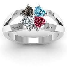 birthstone rings for mothers s ring birthstone all kids 4 kids or family ring
