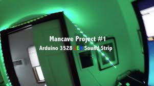 Man Cave Led Lighting by Man Cave Project 1 Arduino 3528 Rgb Led Music Strip Youtube