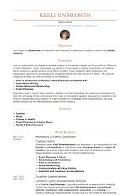 Sample Event Planner Resume Objective by Events Coordinator Resume Samples Visualcv Resume Samples Database