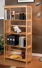 Natural Wood Bookcases Buy 3 Tier Stackable Folding Wood Bookcase Natural In Cheap With