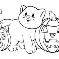 halloween colouring pages preschool divascuisine
