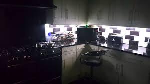 kitchen cabinet under lighting kitchen cabinet rgbw remote lighting youtube