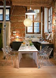 Industrial Kitchen Cart by Kitchen Dazzling Exposed Brick Wall Inside Rustic Kitchen With
