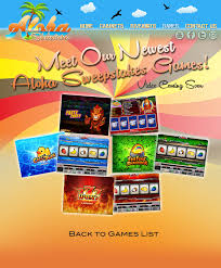 aloha sweepstakes games videos prize board
