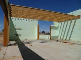 interior design building a green arizona home garage truss joists