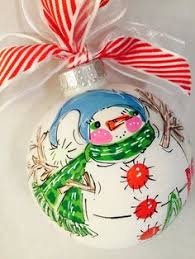 snowman ornament personalized and painted snowman