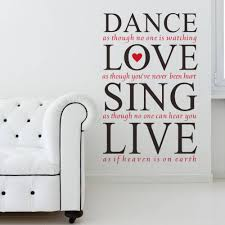 aliexpress com buy wall sticker quotes bathroom laundry room wall sticker dance love sing live art quotes 8260 bedroom living room decal home decor wallpaper