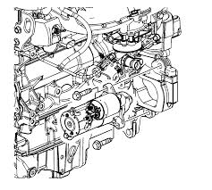 repair instructions off vehicle starter removal 2009 pontiac