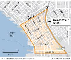 Seattle Map Downtown by Power Restored After Major Hour Long Outage In Downtown Seattle