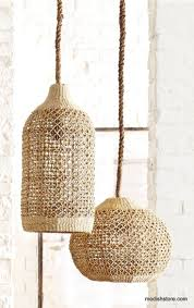 130 best rattan wicker pendant lights images on pinterest