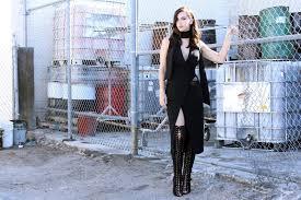 tuxedo dress u0026 lace up boots tour de stfu fashion trends