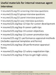 Resume For Internal Promotion Top 8 Internal Revenue Agent Resume Samples