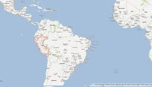 A Map Of South America by South America Relief Map Peru