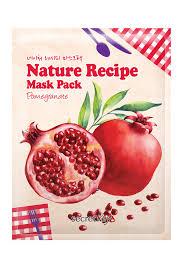 Isaac Mizrahi Sheets Secret Key Nature Recipe Sheet Masks Pomegranate Pack Of 10