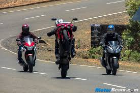 cbr bike on road price yamaha r15 vs pulsar rs 200 vs honda cbr150r review shootout