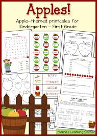 free apple printables for k 1st grade worksheets printables and