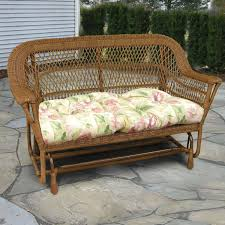 north cape manchester resin wicker double glider antique wash