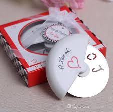 favors online metal mini pizza cutter favors for wedding return gifts happily