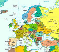a map of europe with countries europe map with country names major tourist attractions