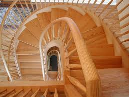 Free Standing Stairs Design Oak Free Standing Spiral Traditional Staircase Portland By