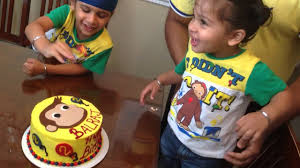 curious george birthday cake balraj reacts to his curious george birthday cake