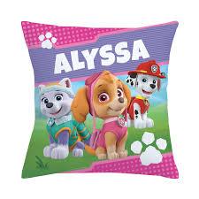 paw patrol pawfect pups throw pillow bedding u0026 blankets decor