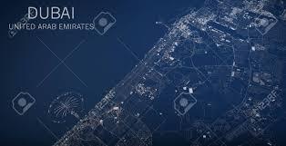 Satellite View Maps Map Of Dubai United Arab Emirates Satellite View Map In 3d