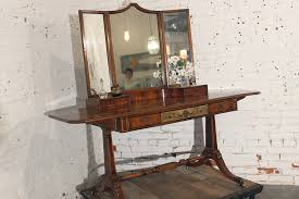 Vanity Table With Tri Fold Mirror Sold U2013 Antique French Hand Painted Dressing Table Vanity With Mirror