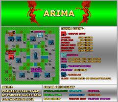 Phantasy Star 2 World Map by Grinding Spots Trinixx U0027s Dezo 2 0