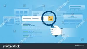 flat line design website banner web stock vector 389742559