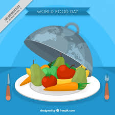 world food day background with healthy fruit vector free