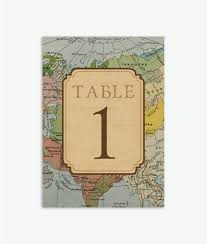 rustic vintage travel theme wedding table numbers 1 20