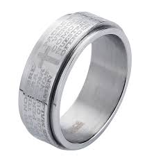 bible verse rings valily jewelry new arrival men ring spinner party bible verse